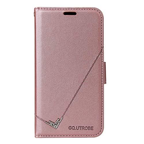 Coque pour iPhone XR Coque,Housse en Cuir Flip Case Portefeuille Etui avec Stand Support et Carte Slot pour Apple iPhone XR - EYYTB010079 Or Rose