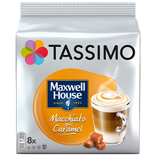 TASSIMO Maxwell House Macchiato Caramel Kaffee Kapseln Pods 5er Pack, 40 Getränke