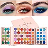 High Pigmented Eyeshadow Palette Professional Metallic and Shimmers Makeup Pallet Bright Natural All In One Makeup Palette 65 Colors Ultra Long Lasting Waterproof Easy To Blend Eye Shadow
