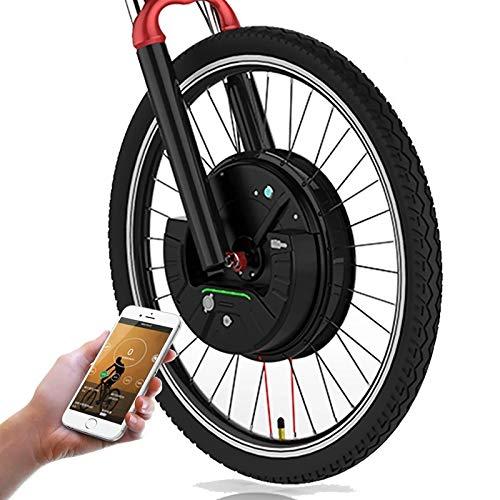 OANCO Kit Bici Elettrica con Ruota Motore Anteriore Bicicleta Electrica 24' 26' 27,5' 29' Kit Imotor 700C con Kit di Conversione Bici Elettrica con Freno A Disco/V 7.2a Baittery
