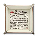 BELLA BUSTA- 2 Years Anniversary-Traditional Cotton Gift for 2 Years Anniversary-Print Cotton Tray Valet (Cotton Tray)