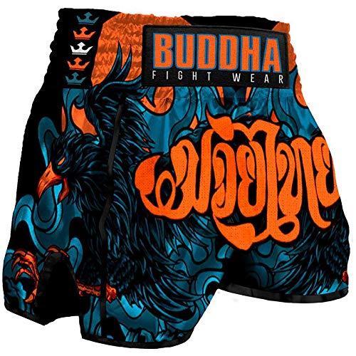 Pantalón Muay Thai Kick Boxing Buddha Retro Eagle