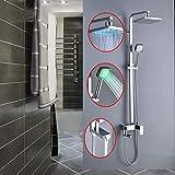 LHQ-HQ LED 3 Funciones de Navegación baño Grifo de la Ducha montado en la Pared de la Ducha de Mezclador del Grifo Set ABS Bañera Grifería Rain