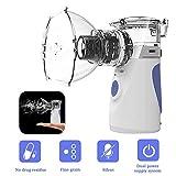 Nebuliseur Inhalateur, Portable Nébuliseur Inhalateur à Vapeur de Poche Vaporisateur D'humidificateur Personnel avec Masque et...