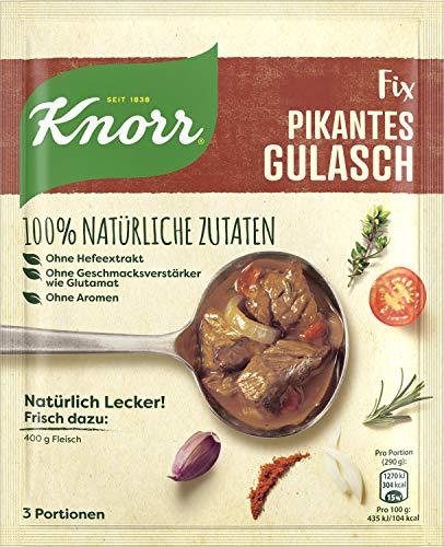 Knorr Natürlich Lecker Pikantes Gulasch Fix 3 Portionen (14 x 63 g)