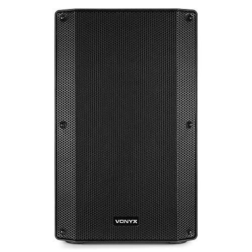 VONYX VSA15 Active PA Speaker Bi-Amplified 15 Inch 1000w Two-Way DJ Stage Sound System