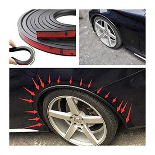 Conjunto de Guardabarros 2M Car Soft Fender Llamarada Extensión de la Rueda de la ceja del Protector Labial Paso de Rueda neumáticos embellecedor de Cejas Arco Decorativo Coche de la Tira