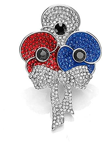 Smalto rosso Poppy Spilla collezione Spilla smalto e foglia per il giorno della memoria Memorial Veterani, non dimentichiamo il giorno della memoria Memorial Day regali gioielli di moda ( Color : 06 )