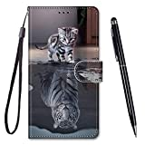 TOUCASA for Huawei P10 Lite Case, Creative Painted Wallet
