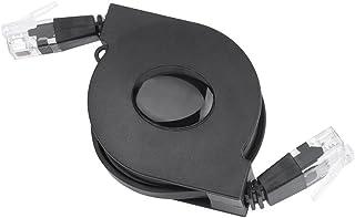 CAT6 Ethernet Kabel, ultraflach, verstellbar, einziehbar, CAT6, RJ45, LAN Netzwerkkabel, Patch, geschirmt, flaches Ethernet Kabel (1 m)