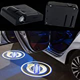 2Pcs Wireless Universal LED Car Door Welcome Light Car Door Shadow Led Projector Logo Wireless Car Welcome Door for Volvo and all Cars,No Drilling Required (Volvo)