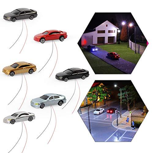 Evemodel 12Stk. 1: 150 N Spur Model beleuchtete Autos mit 12V LED Leuchten für Gebäude Layout Neu EC150-12-EU