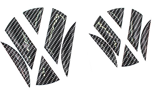 Finest-Folia 3D Emblem Gel Aufkleber vorne + hinten (Carbon Schwarz)