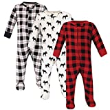 Hudson Baby Unisex Baby Cotton Sleep and Play, Moose, 0-3 Months