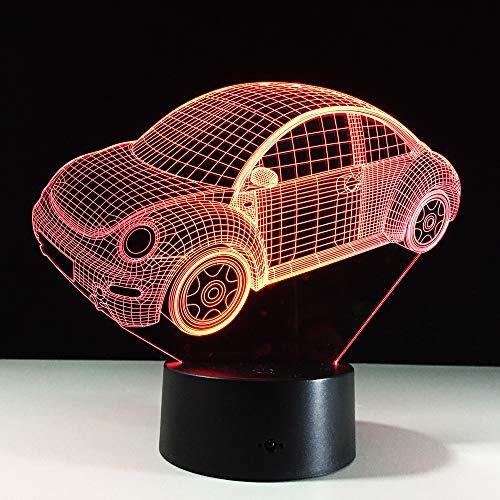 KangYD 3D Visual Night Light Beetle Car Modeling, LED Illusion Lamp, F - Bluetooth Audio Base(5 Color), Decor Gift, Birthday Gift, Halloween Gift, Decor Lights, Touch LED, Decor Lamp