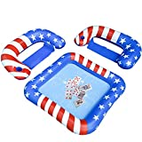 BOWINR Pool Game Floating Table, Floaties Chairs and Water-Proof Playing Cards Deck Set, Inflatable Floats Party Station Accessories with Cup Holder for Adults, Teens Kids & Family for Swimming Party