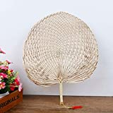 GOUMAO Cool Baby Mosquito Repellent Fan Summer Manual Straw Hand Fans Palm Leaf