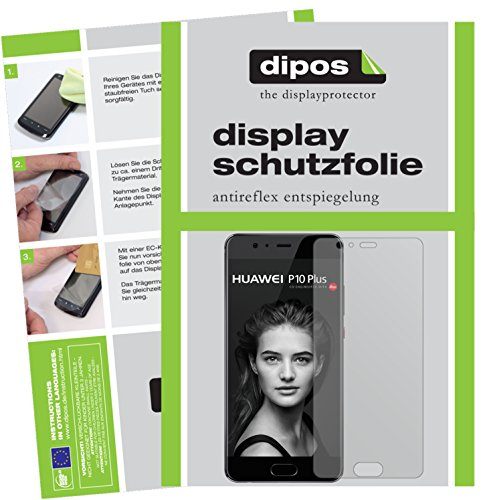 dipos I 6X Schutzfolie matt kompatibel mit Huawei P10 Plus Folie Bildschirmschutzfolie