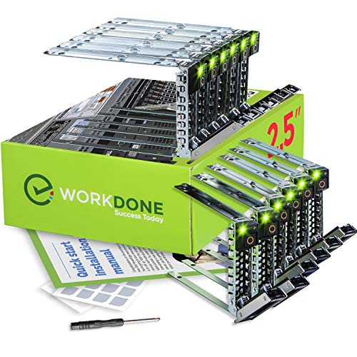 WorkDone 12 pezzi - 2.5 pollici R440 R640 R740 R740xd R840 R940 R6415 XC Vassoio Caddy - Slitta LED luminosa - DXD9H Compatibile per Server Dell Power