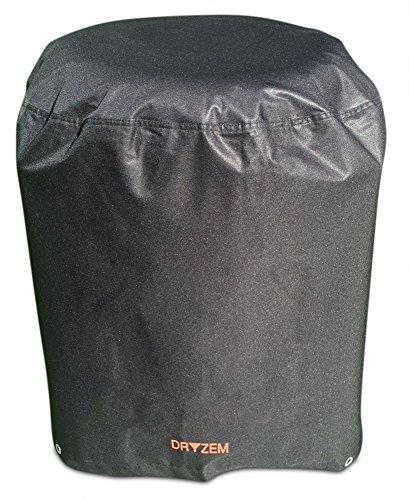 DRYZEM BBQ-Kessel- und Grillabdeckung, sehr strapazierfähig, Aufbewahrungstasche aus wasserdichtem 600D-Polyester mit PVC-Beschichtung (rund)