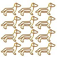 NUOLUX ペーパークリップ クリップ かわいい 40枚 色の 動物型の 犬形