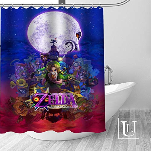 DAIFJAOI Shower curtain curtain new large European & American style print edition polyester shower curtain