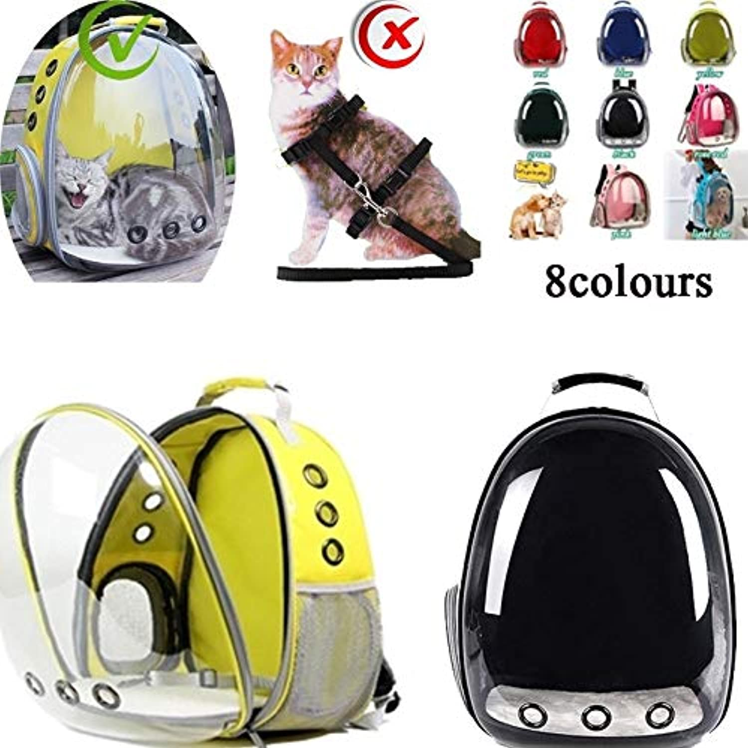 Big Big Shot 8 colors Carrying Clear Pet Carrier Backpack Outdoor Travel Walking Waterproof Breathable Space Capsule Puppy Backpack