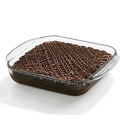 Libbey Baker's Basics Square Glass Casserole Baking Dish, 8-inch by 8-inch