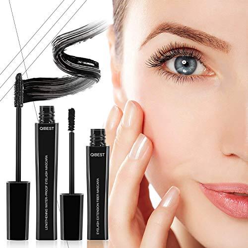 4D Mascara Kit Wimperntusche mit Fiber Set Makeup Wimpern Augenbrauenserum Wimpernverlängerung...