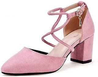 BalaMasa Womens ASL06682 Pu Block Heels