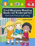 First Beginner Reading Books for Kindergarten Flash Cards Timer for kids reading English Spanish:...