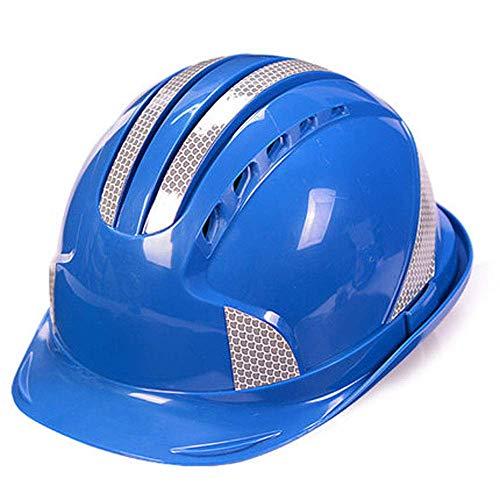 ZWSHOP Casco de Seguridad - Diseño de Tira Reflectante Transpirable, Segura y Transpirable de Cuatro Puntos, Sitio de construcción Energía eléctrica Seguridad en la construcción Hombres y Mujeres ABS