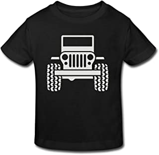 Cotton T Shirts Jeep 1 Childrens/Kids for Girl's Boy