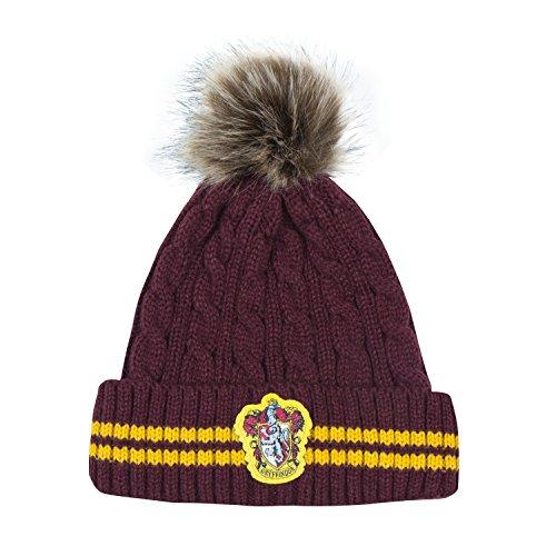 Cinereplicas - Harry Potter Mütze mit Bommel - Offiziel lizensiert - Gryffindor - Rot und Gelb