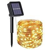 Guirlande Lumineuse Solaire, 20M 200 LED Exterieur...