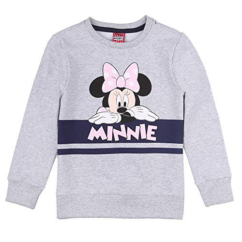Disney niñas Minnie Mouse Sudadera, Sweat, hellgris Melange