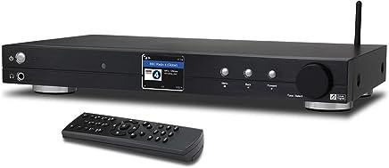 """Ocean Digital Sintonizzatore Radio Internet Wi-Fi (430 mm) WR10 DAB+/DAB/FM/Ricevitore Bluetooth Ethernet Schermo a Colori 2.4"""" TFT con Uscita Digitale per Connettere Sistema Hi-Fi - Nero"""