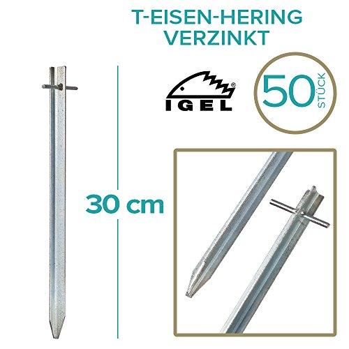 IGEL T-Eisen-Hering 30cm verzinkt (50 Stück)
