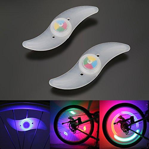 OSAN Vélo Lumière Imperméable RGB 3 Options Types LED Vélo Feux de Vélo Utilisés pour Sécurité et Alarme B