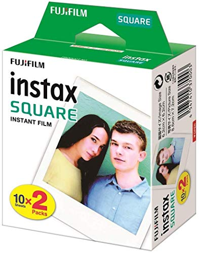Fuji FUJ105230 - Película instant instax (square ww 2, 2x10 fotos) multicolor