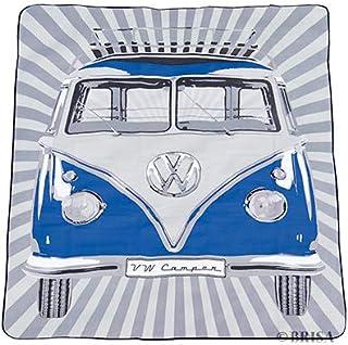 BRISA VW Collection - Volkswagen Bus T1 Camper Van Kombi Picnic Blanket, Resistant & Waterproof with Carrying Bag (2x1.5m/...
