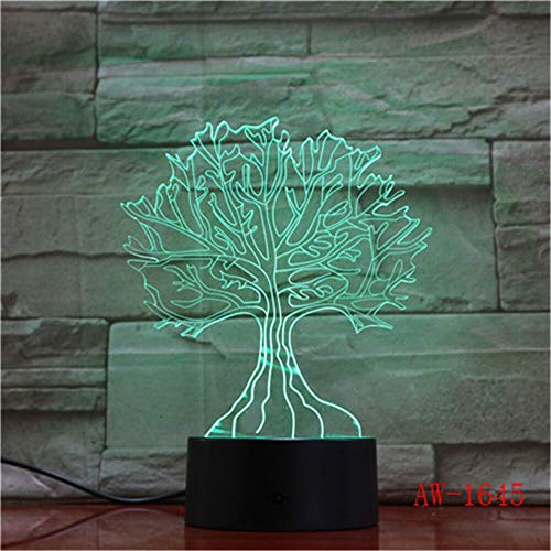 Creative Usb 7 Colors Changing Visual Tree Branches Night Lights 3D Table Desk Lamp Child Bedroom Sleep Lighting Decor Gifts1160