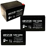 3 Pack Replacement for Kung Long WP12-12 Battery - Replacement UB12120 Universal...