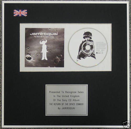 jamiroquai- CD Album Award – Space Cowboy