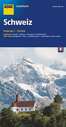 ADAC Länderkarte Schweiz 1:301000 (ADAC LänderKarten)