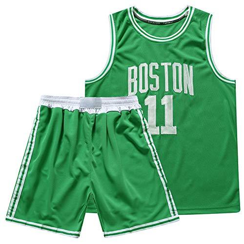 Top para Deportes Al Aire Li Baloncesto Boston Jerseys Conjuntos para Mans Transporte De Equipo Uniforme Malla Sin Mangas Top Shorts Pantalones Cortos Irving 11#