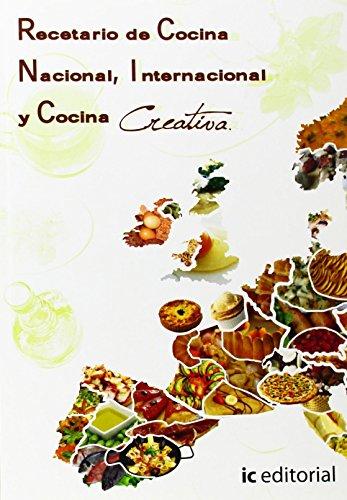 Recetario de cocina nacional, internacional y cocina creativa