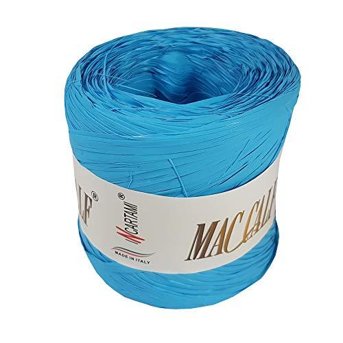 INCARTAMI-ITALIA Rafia Colorata Turchese Sintetica Piu Colori Disponibili Mac Calf Metri 200 Alta QUALITA' E Resistenza