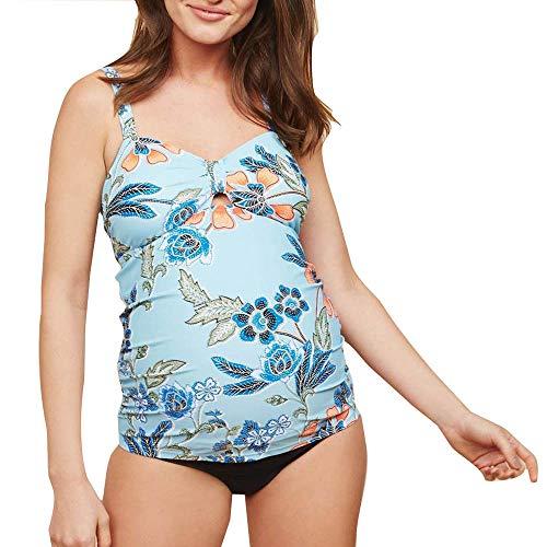 ZXLIFE@@@ vrouwen Moederschapsbadpak, plus size badpak Beach bikini set neckholder badmode zwangerschapszwemkostuum met UV-bescherming en buikondersteuning Large