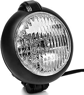 Krator Universal Black Motorcycle Headlight with Bracket For Yamaha Zuma Morphous Razz Champ 50 125 100